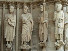 Notre-Dame de Reims by Discours de Bayeux on Flickr.Via Flickr:  Statues on the West front (Portal) of the Cathedral of Reims — among European cathedrals, only Chartres has more sculpted figures.  The Cathedral of Notre-Dame de Reims is one of Europe's greatest medieval cathedral churches, and a central factor in the history of France. Over half a million people visit the cathedral every year.