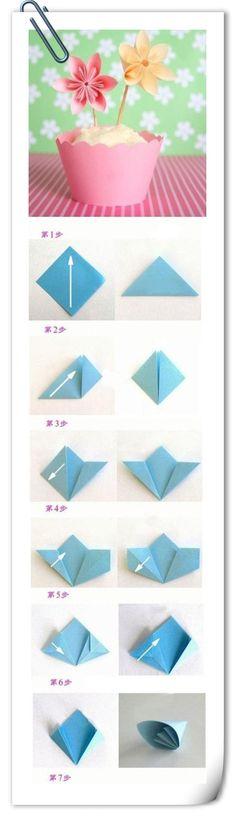 {.  Peach Yen} paper folding cherry
