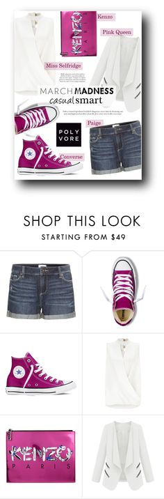 """""""Casual Smart by #TheseHeelsAreMade4Walking"""" by sara-86 ❤ liked on Polyvore featuring Paige Denim, Converse, Miss Selfridge and Kenzo"""