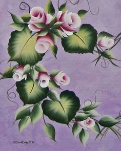 Resultado de imagen para one stroke painting donna dewberry One Stroke Painting, Tole Painting, Fabric Painting, Donna Dewberry Painting, Fabric Paint Designs, Acrylic Flowers, Painting Flowers, Country Paintings, Expo