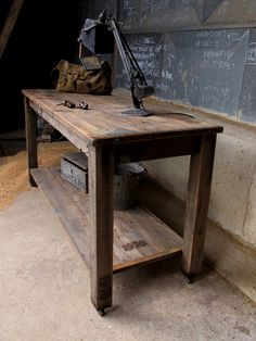 Quirky interiors two tier work table. http://www.quirkyinteriors.co.uk/pages/tables_9336.cfm#content_item_79175