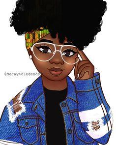 Whoever drew this did a good job! Black Love Art, Black Girl Art, Black Girl Magic, Black Power Desenho, Style Afro, Drawings Of Black Girls, Black Girl Cartoon, Natural Hair Art, Black Art Pictures