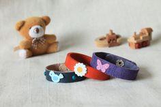 Children's leather bracelets