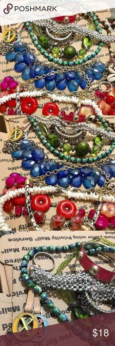 Runway necklace jewelry midex bundle bracelet lots Costume jewelry bundle item full color beads jewelry earring necklace bracelet ... gold silver tone. All wearable (2243) 🎈🎈🌿☘️🌿 #bundle jewelry #fashion jewelry #Random charm for jewelry make #beads jewelry# #vintage jewelry #rhinestone jewelry #crystal jewelry #gold jewelry #silver jewelry #jewelry sets #accessories # 🌿☘️ $18 Jewelry Bracelets