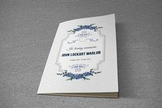Funeral Program Template-T497 by@Graphicsauthor