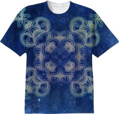 Vintage Blue Pattern TShirt #tshirt #vintage
