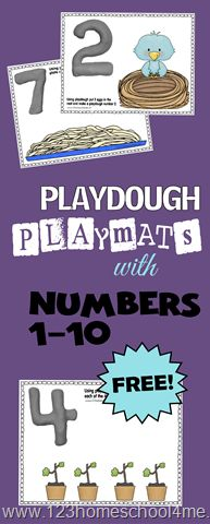 These play mats are such a fun way to help toddler and preschool kids practice counting from 1-10