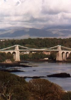 The opening of the Menai Bridge, the world's first modern suspension bridge, on this day 30th January, 1826. It was designed by Thomas Telford and links North Wales to the Island of Anglesey.