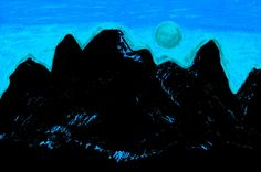 https://flic.kr/p/HcEuGj | Moon Glow Over The Cascades 3 By Sherrie D. Larch | This artwork was inspired by a moonlit night over the Cascade Mountain Range in mid winter.  My Facebook Artist Page: www.facebook.com/sherriedlarch/