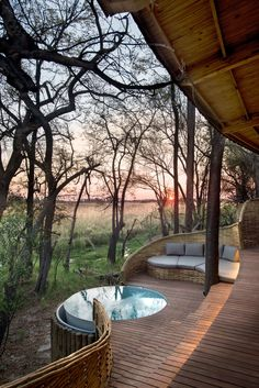 The Okavango Delta and the areas surrounding Sandibe Safari Lodge is renowned for its abundant wildlife where lions, cheetahs, leopards, red lechwe antelope and elephants are regular, roaming visitors. Just when you think that's reason enough to visit &Beyond's Botswana based lodge, prepare