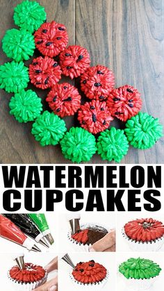 Use this cake decorating tutorial to make easy watermelon cupcakes with buttercream frosting. These pull apart cupcakes are fun to serve at Summer birthday parties and picnics. Summer Cupcakes, Fun Cupcakes, Cupcake Cakes, Pull Apart Cupcake Cake, Pull Apart Cake, Summer Birthday, Birthday Parties, Watermelon Birthday, Buttercream Frosting For Cupcakes
