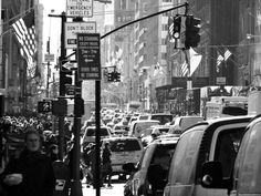 Busy NYC street