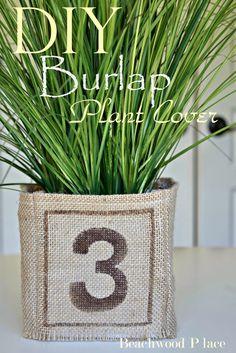 DIY Burlap Plant Cover | Beachwood Place
