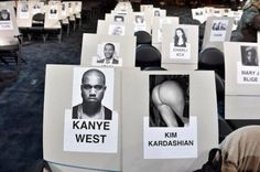 Personally, I think the picture of Kanye should be a close up of the spreaded cheeks of that fat ass