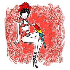 BANDANANA - Collection Printemps-Eté 2016  #ChantalThomass #lingerie #Paris #VivaLaVida #FridaKahlo #PinUp #Bandanana