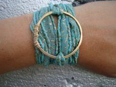 turquoise wrap bracelet...<3 it