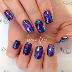 Wild Berry Foils by urbanbliss from Nail Art Gallery