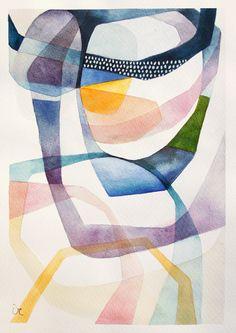 Original painting abstract art contemporary art por VictoriAtelier