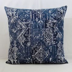 Navy Blue Throw Pillow Cover Geometric Decorative Accent Indian 16x16 18x18 20x20 22x22 12x16 12x18 12x20 14x22 Indigo White Zipper by TheDecorativePillow on Etsy https://www.etsy.com/nz/listing/252890624/navy-blue-throw-pillow-cover-geometric