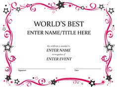 Free Funny Award Certificate Templates for Word Free Funny Award Certificate Templates for Word . Free Funny Award Certificate Templates for Word . Creative Certificate Templates Dalep Midnightpig Co