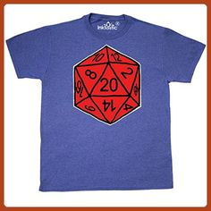 Inktastic - Red 20 Sided T-Shirt Large Retro Heather Royal - Gus Fink Studios - Retro shirts (*Partner-Link)