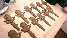 """Candy Bar Cupcakes: Baby Groot Cookies! """"Guardians of the Galaxy"""""""