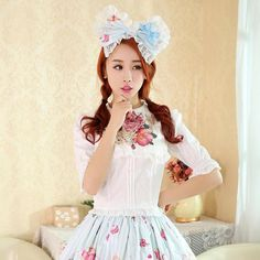 Support Dance Ladies Sailor Collar Cotton Half Sleeve Print Lolita Blouse Women College Style Shirt Cosplay Costume L39