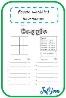 Geïnspireerd op de Engelse werkbladen zoals deze , maakte ik een Boggle werkblad. Speciaal voor kinderen in de middenbouw is er een versie m...