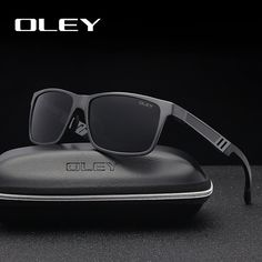 9fa9c71e08 OLEY Men Polarized Sunglasses Aluminum Magnesium Sun Glasses Driving HD  Glasses Rectangle For Men Wome
