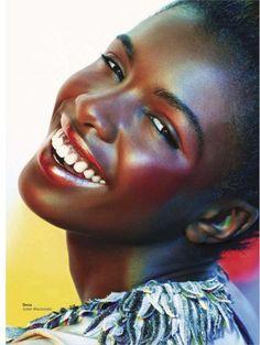 Glamour Magazine April 2012:  Have a Metallic Moment  Model: Leomie Anderson at Premier Management via www.beautyisdiverse.com