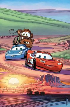 Lightning, Sally and Mater on a tour to Arizona.