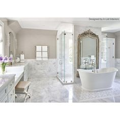 Asian Statuary Polished Marble Tile Asian Statuary marble creates a striking floor or wall for any room in your home. Asian Statuary Polished Marble Tile is a chic, endlessly inspiring marble option. White Bathroom, Modern Bathroom, Small Bathroom, Bathroom Showers, Bathroom Ideas, Bathroom Bin, Bathroom Designs, Modern Toilet, Shower Designs