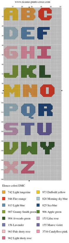 alphabet - point de croix - cross stitch - Blog : http://broderiemimie44.canalblog.com/