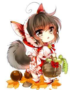 Yandere Anime, Anime Neko, Anime Manga, Anime Art, Kawaii Chibi, Cute Chibi, Kawaii Anime, Chibi Characters, Cute Characters