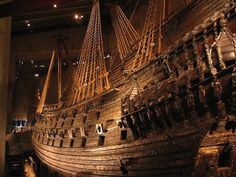 The Swedish Warship Vasa, which went under on its maiden voyage in 1628 and was recovered in 1961.
