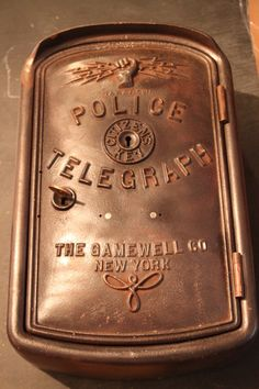 We came across this fantastic vintage police call box! Comes with key and light! Would make for a fantastic restoration project and get that light flashing again! Police Call, Blue Line, Home Projects, Restoration, Personalized Items, Antiques, Box, Badges, Squad