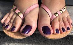 Nice Toes, Pretty Toes, Feet Nails, Toenails, Beautiful Toes, Beautiful Things, Purple Toes, Sexy Toes, Women's Feet