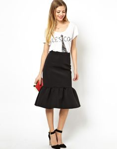 Asos. Pencil skirt ending in a peplum.. Genius and gorgeous