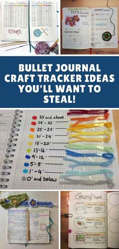 Whether you crochet, knit, sew or do some other sort of creative craft you are going to love these craft Bullet Journal tracker ideas!