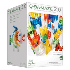 Q-BA-MAZE 2.0 is a unique system of colorful cubes that interlock to form a marble run. The big difference? You can create marble maze sculptures in the form of animals, geometric shapes or any other design! Configurations are unlimited, allowing for a live demonstration of probability, physics and art, all in one! Set includes 72 cubes in five different colors plus 20 steel balls. Ages 5 and up.