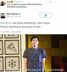 nO ITS NOT BECAUSE I ALMOST STARTED CRYING ST THE SHOW BECAUSE PHIL IS AN AMAZING HUMAN BEING AND IS SO MUCH MORE THEN 'ENOUGH'