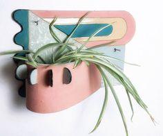 Geometric Wall Hanging Ceramic by ZolaJewelryObjects