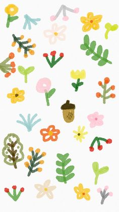 Of Wallpaper, Pattern Wallpaper, Wallpaper Backgrounds, Iphone Wallpaper, Kawaii Stickers, Cute Stickers, Cute Doodles, Aesthetic Stickers, Cute Cartoon Wallpapers