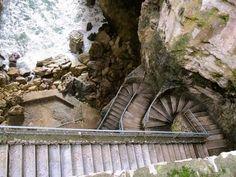 Stairway down a gorge in Gaeta, Italy