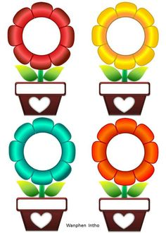Preschool Flowers Class Name Badges - Preschool Children Akctivitiys Classroom Labels, Classroom Rules, Classroom Displays, Classroom Decor, Class Decoration, School Decorations, Classroom Birthday, Boarders And Frames, Page Borders Design