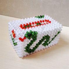3D beadwork Tissue Box Holder Napkin Box Holder for Car Home Office use