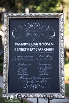 Wedding program canvas
