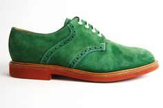 Mark  McNairy green suede bucks for men, from Nepenthes New York. Photo: David Needleman for The New York Times