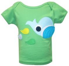 "Decaf Plush ""Whale & Fishies"" Bodysuit or T-Shirt"