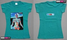 """B.I.O.mechanoid"" UV-Blacklight Fluorescent & Glow-In-The-Dark Psychedelic Art Womens T-shirt in Turquoise, $33 in Tripleview Art eBay Store _____________________________ #psychedelic #psy #trance #psytrance #goatrance #rave #trippy #hippie #esoteric #mystic #spiritual #visionary #symbolism #UV #blacklight #fluorescent #fluoro #fluo #neon #glow #glowinthedark #phosphorescent #luminescent #art #tshirt #transhuman #biomechanoid #cyborg #sciencefiction #scifi #cyberpunk www.TripleviewArt.com"